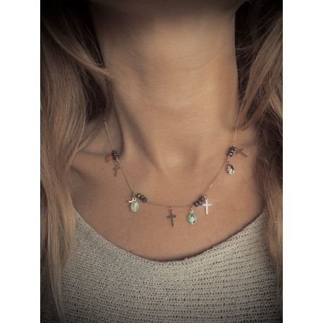 """COLLIER """"COLOR MIRACLE"""" DORE."""
