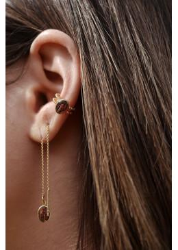 Boucles d'oreilles 3 CAPRI or