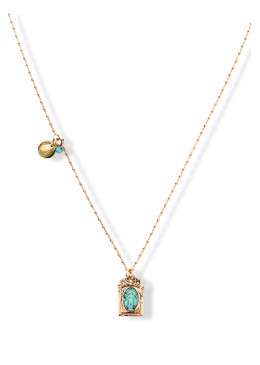Collier BAROQUE Or 07 Turquoise 2