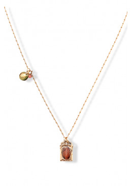 Collier BAROQUE Or 18 Abricot 2