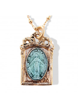 Collier BAROQUE Or 07 Turquoise