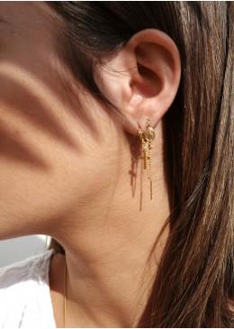 Boucles d'oreilles 2 CAPRI Argent