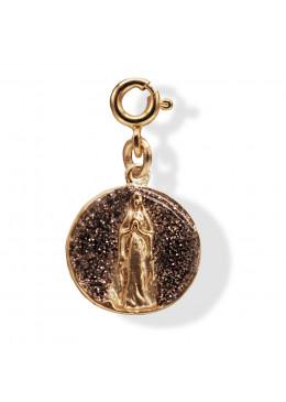 Médaille APPARITION Anthracite Paillette