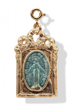 Médaille BAROQUE Or Turquoise