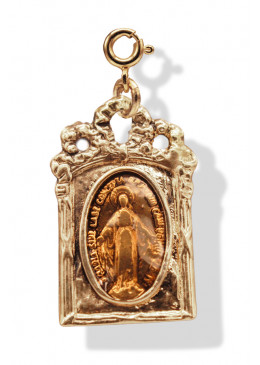 Médaille BAROQUE Or Abricot