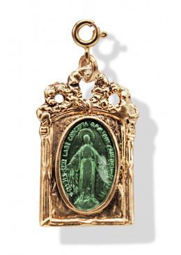 Médaille BAROQUE Or Emeraude