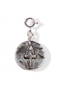 Médaille Apparition ROCK Argent en situation (Collier non vendu avec la médaille)