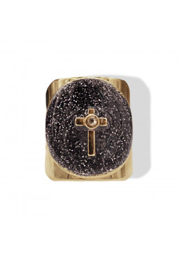 Bague DOLCE OR Anthracite Paillette