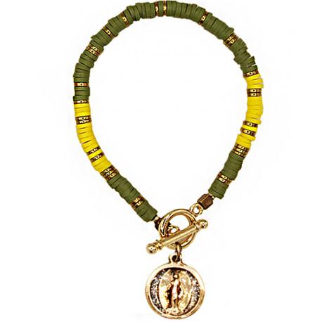 "Bracelet ""Sao Paulo"" Grande Médaille army soleil"