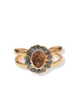 Bague COROLLE Or 31 Turquoise Paillette